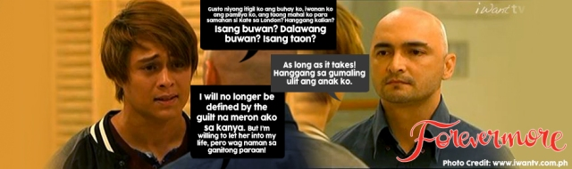 FOREVERMORE quote of the day Xander I will no longer be defined by the guilt na meron ako sa kanya-940x280